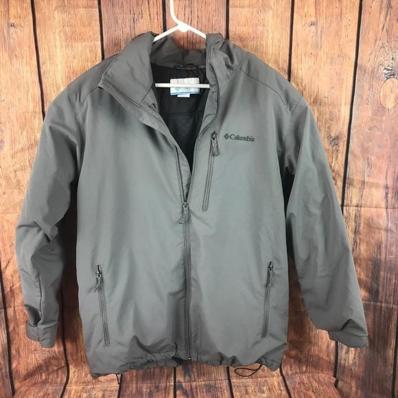 Columbia Jacket Mens Lined Fleece Large Warm Zip